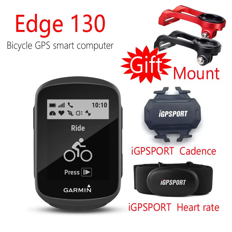 GARMIN Edge 130 GPS+GLONASS Bicycle Computer +iGPSPORT CAD&Heart rate-(Give a Mount) garmin edge 810 hrm cad