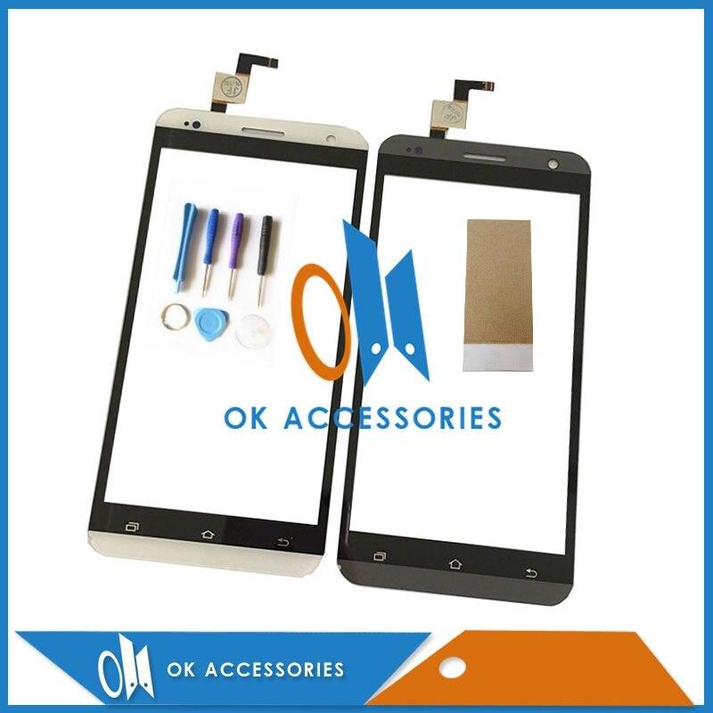 imágenes para 5.5 Pulgadas Para X-BO V10 Para VKworld VK700 Pro Touch Digitalizador de pantalla 1 PC/Lot Blanco de Color Negro Con Cinta Adhesiva y herramientas
