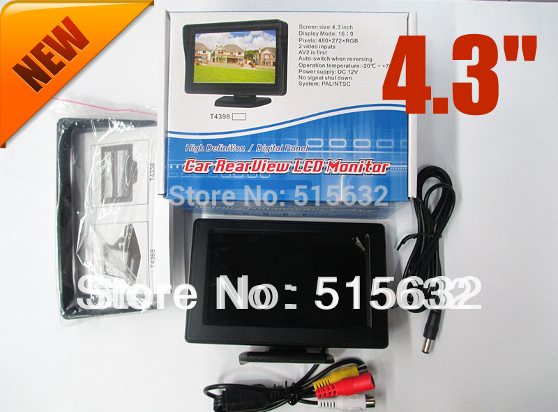 4.3 Inch Color LCD automobile Video Car Monitor For Car Backup Camera Reserve Digital Good Quality Brand New aputure digital 7inch lcd field video monitor v screen vs 1 finehd field monitor accepts hdmi av for dslr