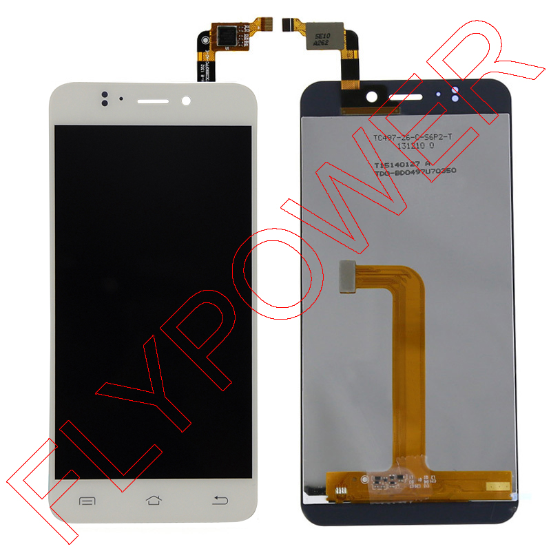 ФОТО For JIAYU S2 LCD Screen Display with Touch Screen Digitizer Assembly by free shipping; HQ; White; 100% warranty