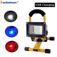 Portable LED Work Light 60W Emergency Spotlight Movable Waterproof Work Lamp Easy Carry for Camping Car Repair Working Fishing
