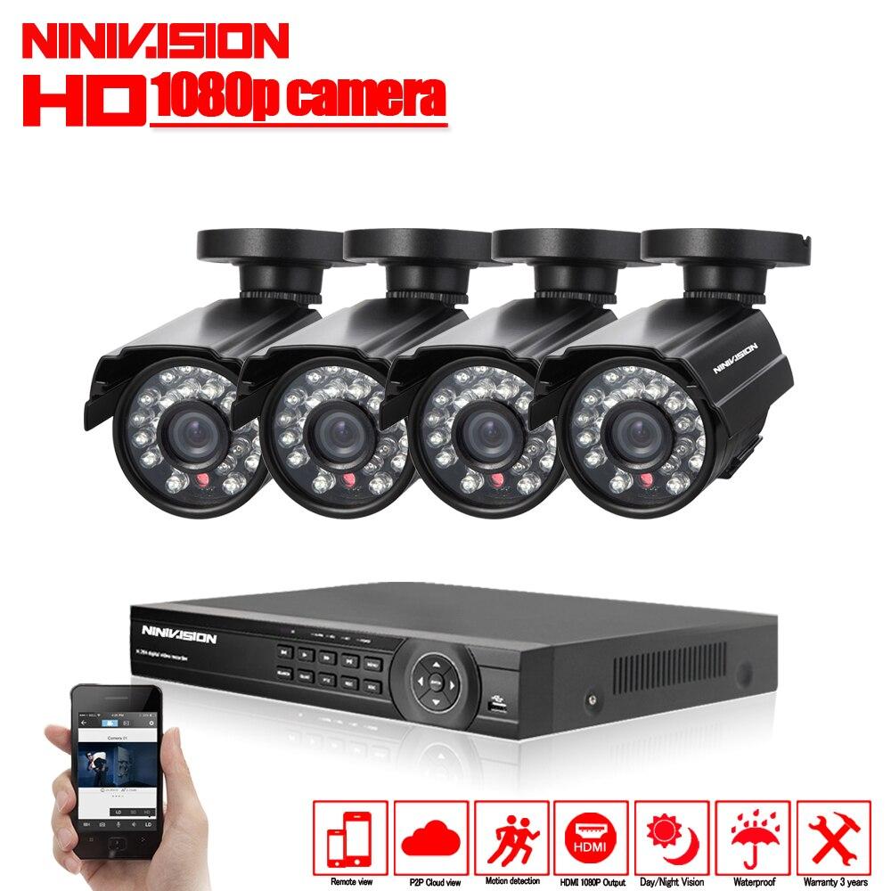 HD 2.0MP системы видеонаблюдения 3000TVL 8CH AHD безопасности 1080 P видео ночное видение дома камеры с 1 ТБ HDD