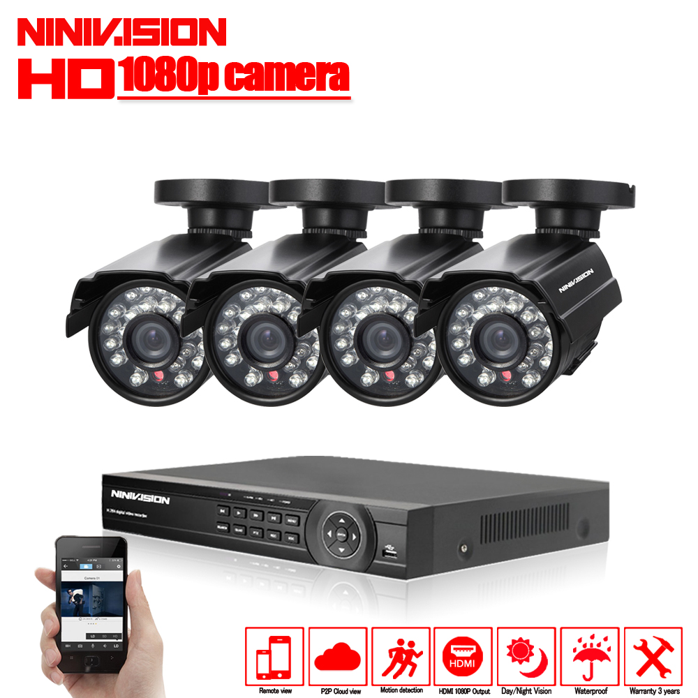 HD 2.0MP CCTV Системы 3000TVL 8CH AHD безопасности 1080 P видео Ночное видение дома камер видеонаблюдения Системы с 1 ТБ HDD