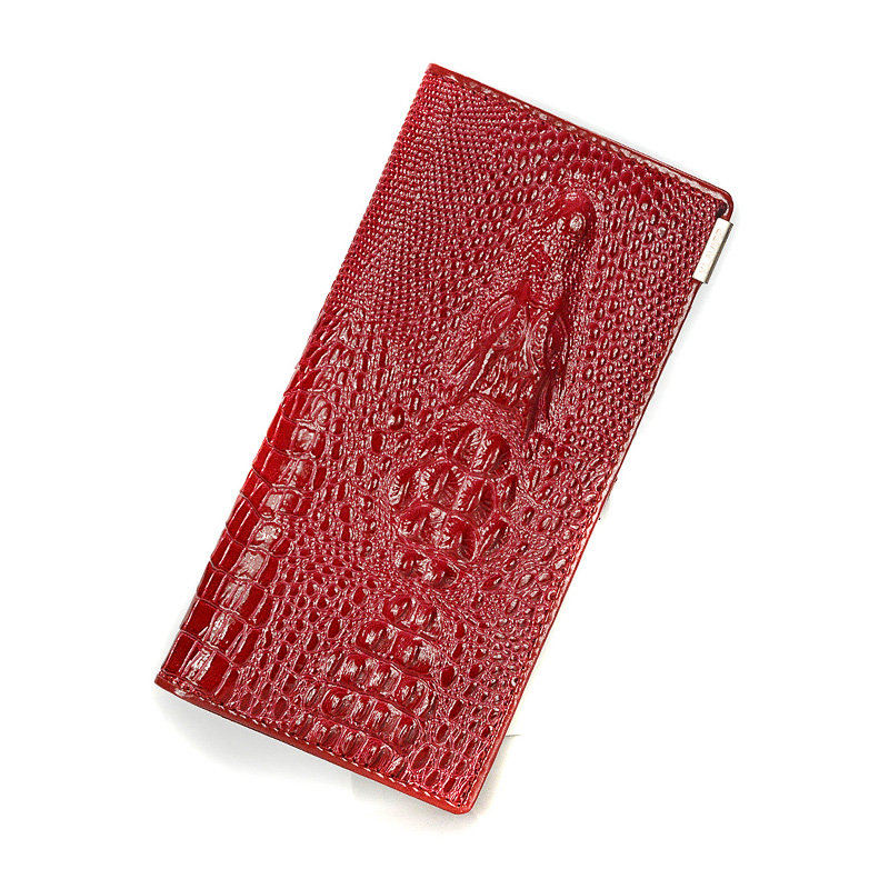 Women Wallet Female 2016 Coin Purses Holders Brand Genuine Leather 3D Embossing Alligator Ladies Crocodile Long Clutch Wallets 2017 new ladies purses in europe and america long wallet female cards holders cartoon cat pu wallet coin purses girl