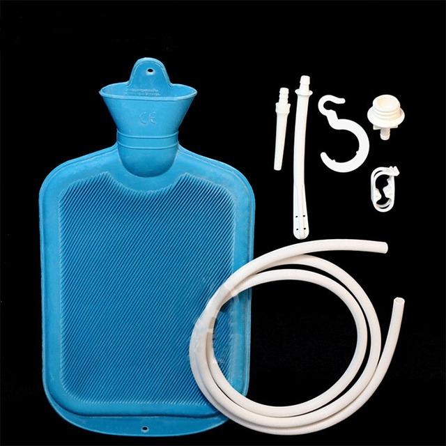 Porous enema water bag. Shower type of intestinal cleaner vaginal washing