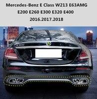 Бампер автомобиля диффузор задний спойлер для Mercedes Benz e класса W213 e63amg E200 E260 E300 E400 2016.2017.2018 авто интимные аксессуары