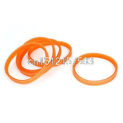 5 Pcs 88x80mm Electric Planer Cutting Machine Drive Belt Orange for Makita 1911B