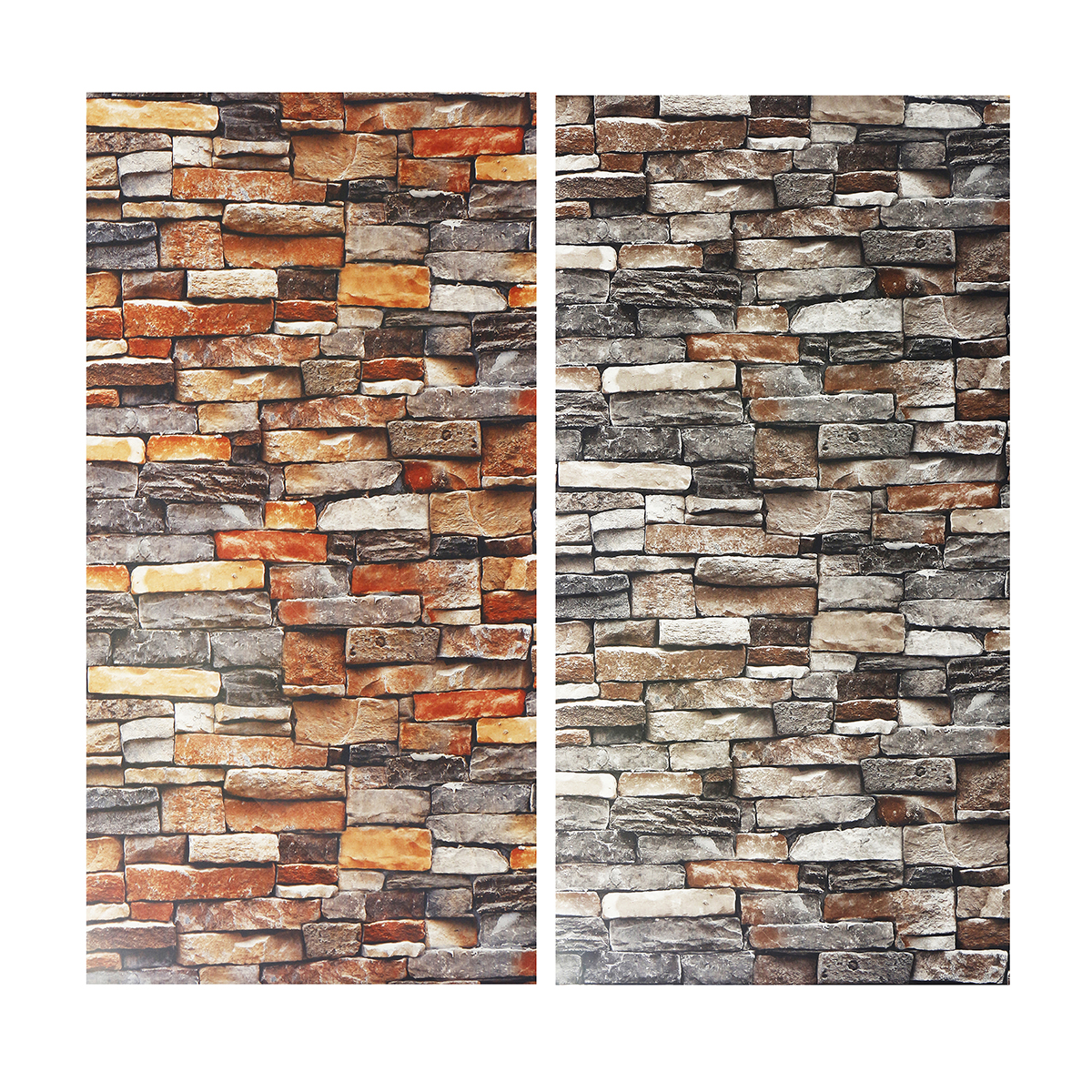 Rustic Vintage 3D Faux Brick Wallpaper Roll Vinyl Old Stone Wall Paper For Home Living Room Restaurant Cafe Decor 0.53x9.5m stone brick 3d wallpaper bedroom living room background wall vinyl retro wall paper roll rustic faux stone wallpapers