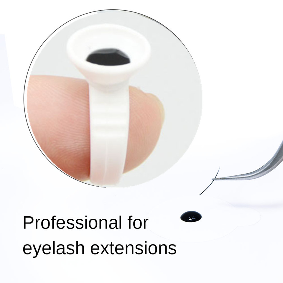 5ml Super Sky Glue Eyelash Glue Adhesive S Type False Eyelashes Glue Professional Eyelash Makeup Tools Send Jade Stone Holder in False Eyelashes from Beauty Health