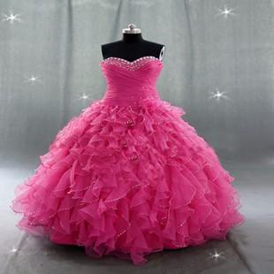 Amazing-Rose-2016-Vestidos-de-Quinceanera-Dresses-For-Pleat-Hand-Beaded-Sleeveless-Open-Back-vestido-de