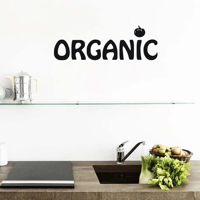 Healthy Life Wall Art Wall Decals Quotes Eat Organic Food Removable ...