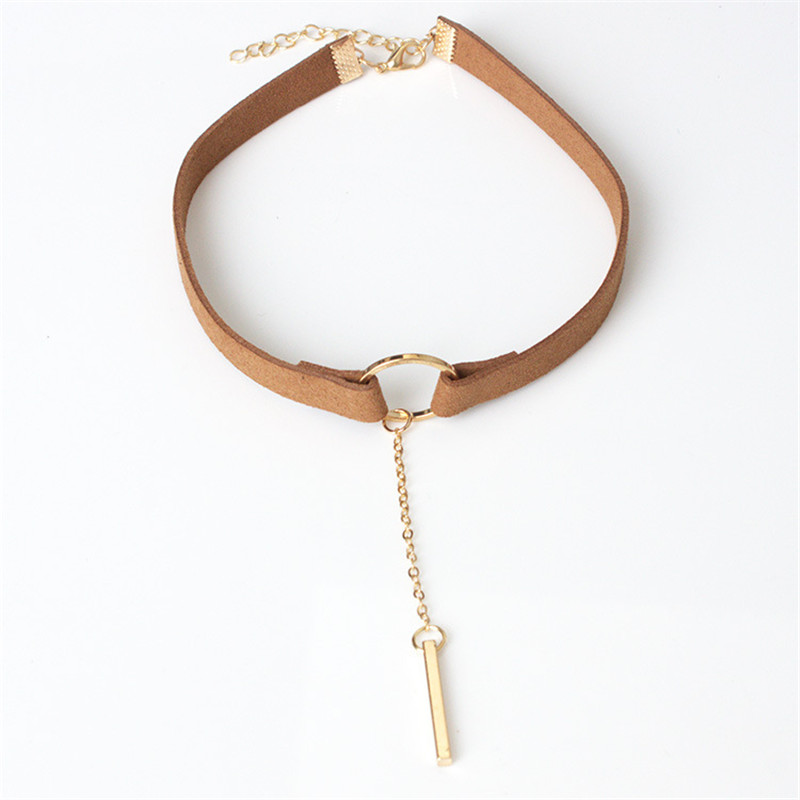 cbf32a6780c Detail Feedback Questions about New Punk Statement Geometric Circle Bar  Velvet Tassel Chain Chokers Necklaces Women Jewelry Bijoux Mujer Collier  ras de cou ...