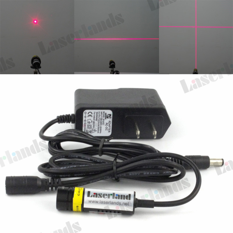 цена на 14.5*48mm 650nm Red 5mW 50mW 100mW 200mW Dot Line Cross Focusable 660nm Laser Diode Module adapter
