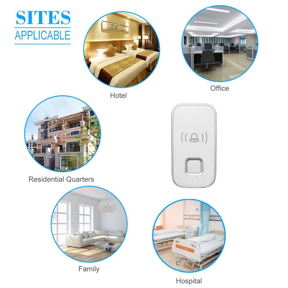 Shop For Cheap Wireless Mini Size Door Bell Outdoor Push Button Ip55 Waterproof Doorbell Elegant Design Sensitive Transmission Grade Products According To Quality Security & Protection