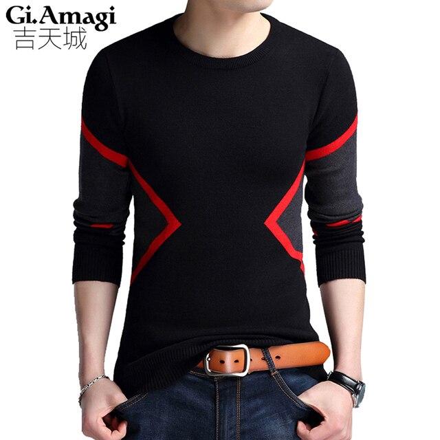 Pullover Strickereien Men 2017 Autumn Winter New Korean Slim Round Neck  Sweater Shirt Students Slim Fit f2301be129