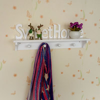 1 PCS Originality Personalized Lovely Towel Holder Hook Hanging Hook Density Board Coat Hat Cute Cloud Wall Door Kitchen