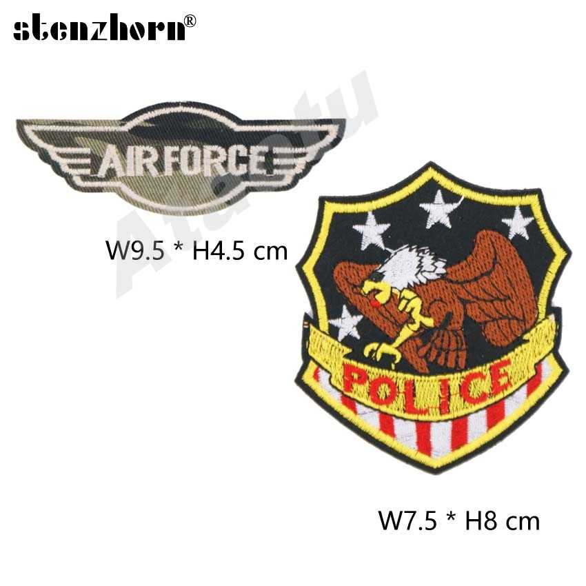 (1PC) embroidered Army Police Armband patches military tactical morale Star  eagle badge iron on or sew on patches for clothing
