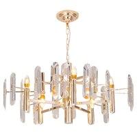 Postmodern LED chandeliers living room suspended lamp Nordic pendant luminaires bedroom lighting fixtures Crystal hanging lights