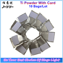 10 bags x 200g/Lot Ti Powder With Card For Spark Machine  MSDS Consumables Cold Fountain Powder Fireworks Used Ti Powder