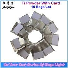 10 пакетов x 200 г/лот Ti порошок с картой для искры машины MSDS расходные материалы холодный фонтан порошок фейерверк используется Ti порошок