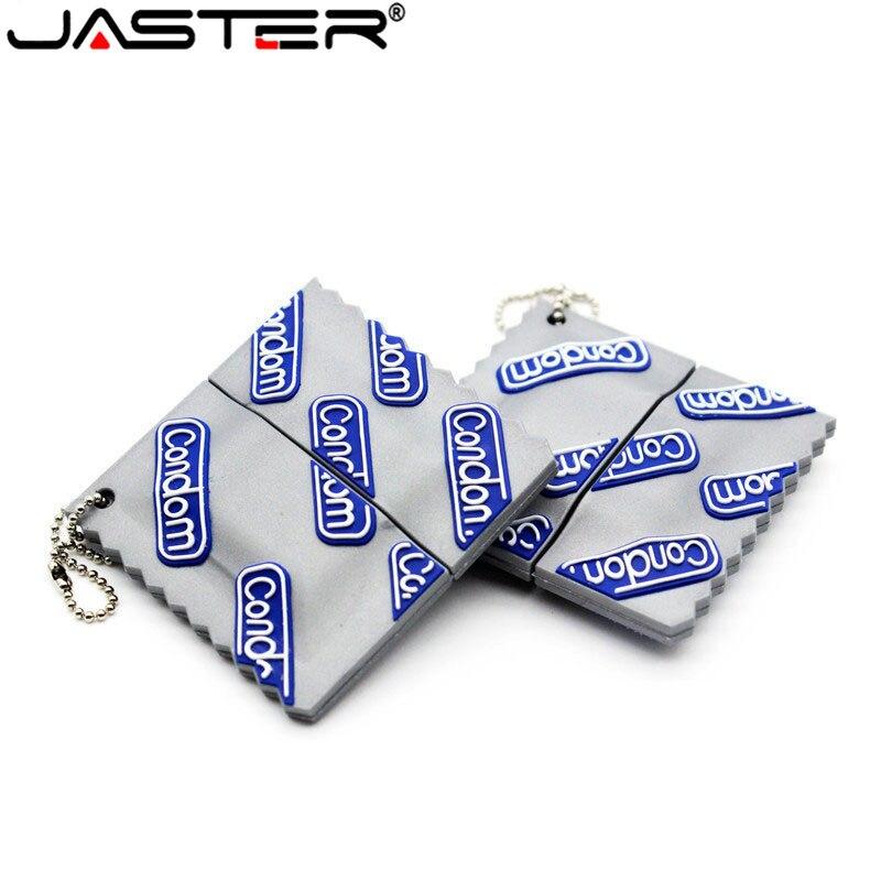 JASTER Usb Flash Drive Pen Drive 32gb 64GB Pendrive Cartoon Condom 4gb 8gb 16gb Memory Stick U Disk Flash Card Gift