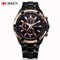 Los hombres relojes de primeras marcas de lujo de los hombres militares relojes de pulsera hombres de acero completo reloj deportivo a prueba de agua curren relogio masculino 8023