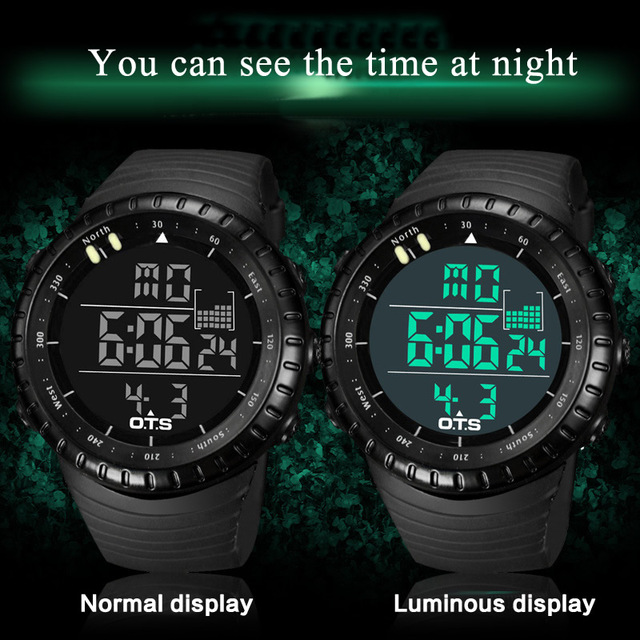 2019 Led Waterproof Sport Watch Fashion Casual Diving Sports Wristwatch Wholesale Military Electronic Digital Army Men Watches 1