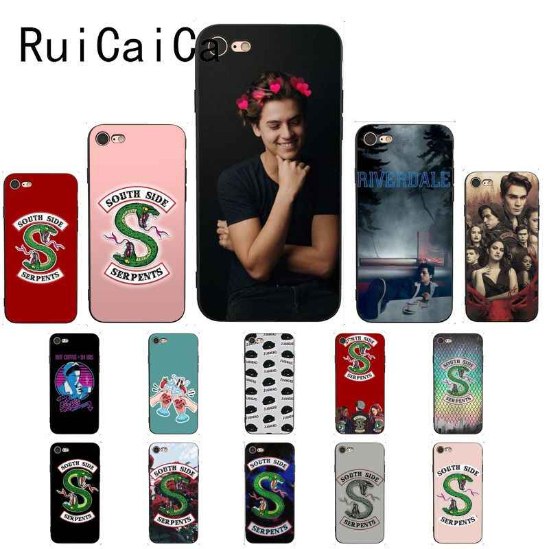 RuiCaiCa American Hot TV Riverdale TPU Soft Silicone Phone Case Cover for iPhone 5 5Sx 6 7 7plus 8 8Plus X XS MAX XR 10 Case