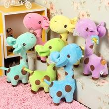 лучшая цена Soft Boys and girls New 18 x 7 cm Cute Plush Giraffe Soft Toys Animal Dear Doll Baby Kids Children Birthday Gift 1pcs  Hot Pop
