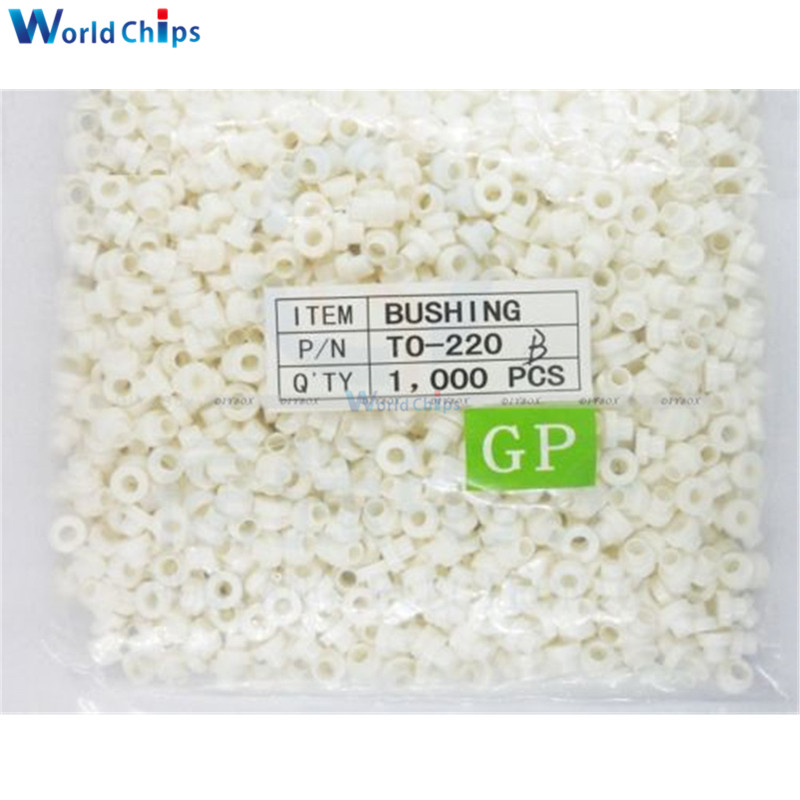 1000PCS To-220 Insulation Eco friendly Insulating Particles Bushing Transistor Pads Circle In Stock