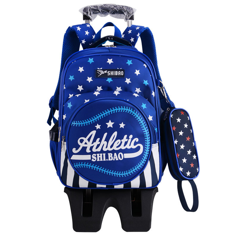 Children School Bags With 3 Wheels Stairs Kids boys girls Trolley Schoolbags Luggage Book Bag Wheeled Backpacks mochila infantil new fashion junior high school students bags kids backpacks mochila infantil schoolbags girls double shoulder small bag