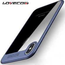 """LOVECOM For iPhone 5 5S SE 6 6S 7 Plus X Case Luxury """"Auto Focus"""" Letter PC & TPU Ultra Thin Shockproof Phone Back Cover Cases"""