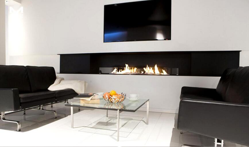 36 Inch Silver Or Black Real Fire Wifi Intelligent Eco Fireplace Bio Ethanol Burner