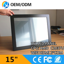 15″ industrial tablet pc touch screen pc with Resolution 1024×768 / 4GB ddr3 32G SSD celeron C1037U 1.8GHz all in one pc
