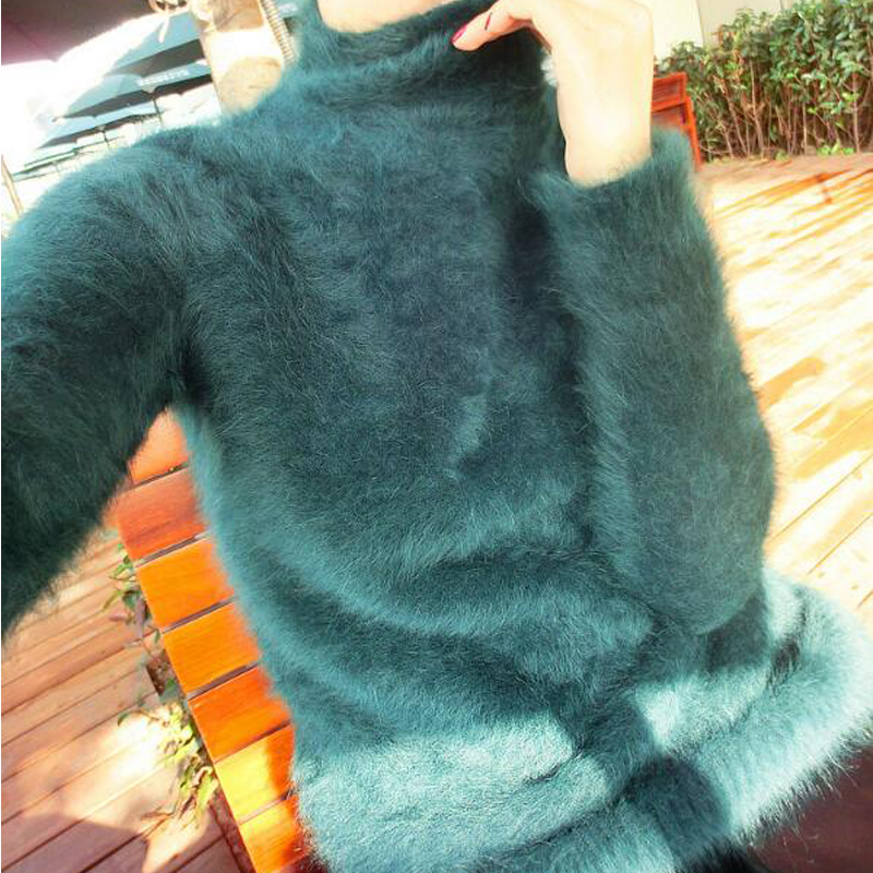 Turtleneck Mink Cashmere Pullovers Women Cashmere Sweater Factory Low Discount New Spring Autumn Pullover For Women Tsr552