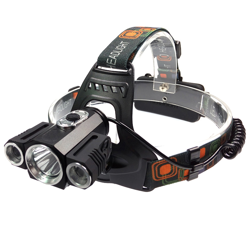 Strong powerful cree led headlamp 18350 recharge headlight 3 T6 bike lamp head torch light for