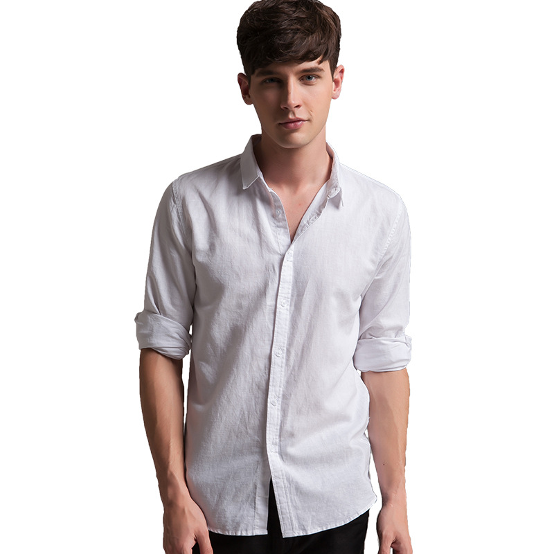 Compare Prices on White Linen Long Sleeve Shirts for Men- Online ...