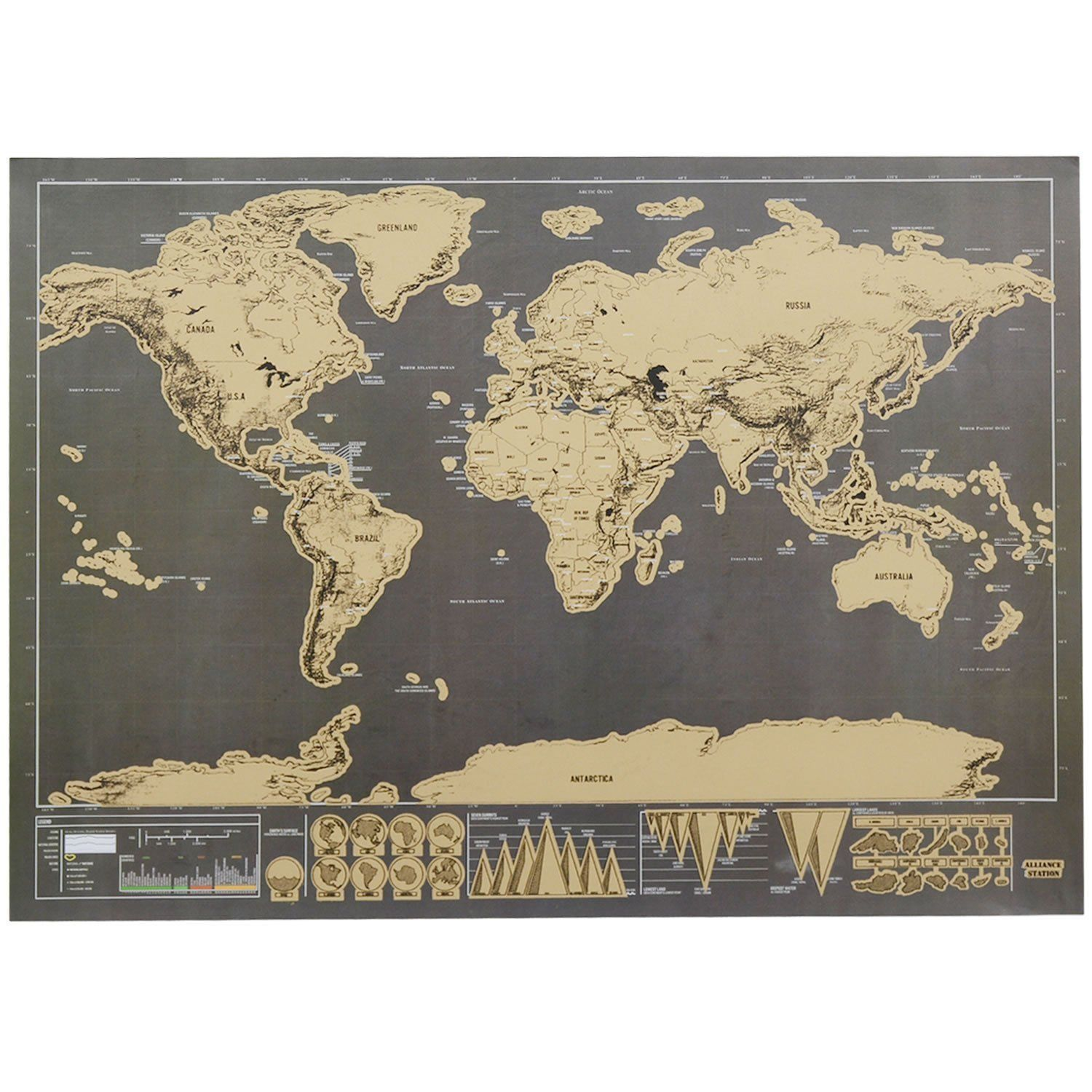World map poster wholesale deluxe scratch off personalized school world map poster wholesale deluxe scratch off personalized school education fun in wall stickers from home garden on aliexpress alibaba group gumiabroncs Gallery
