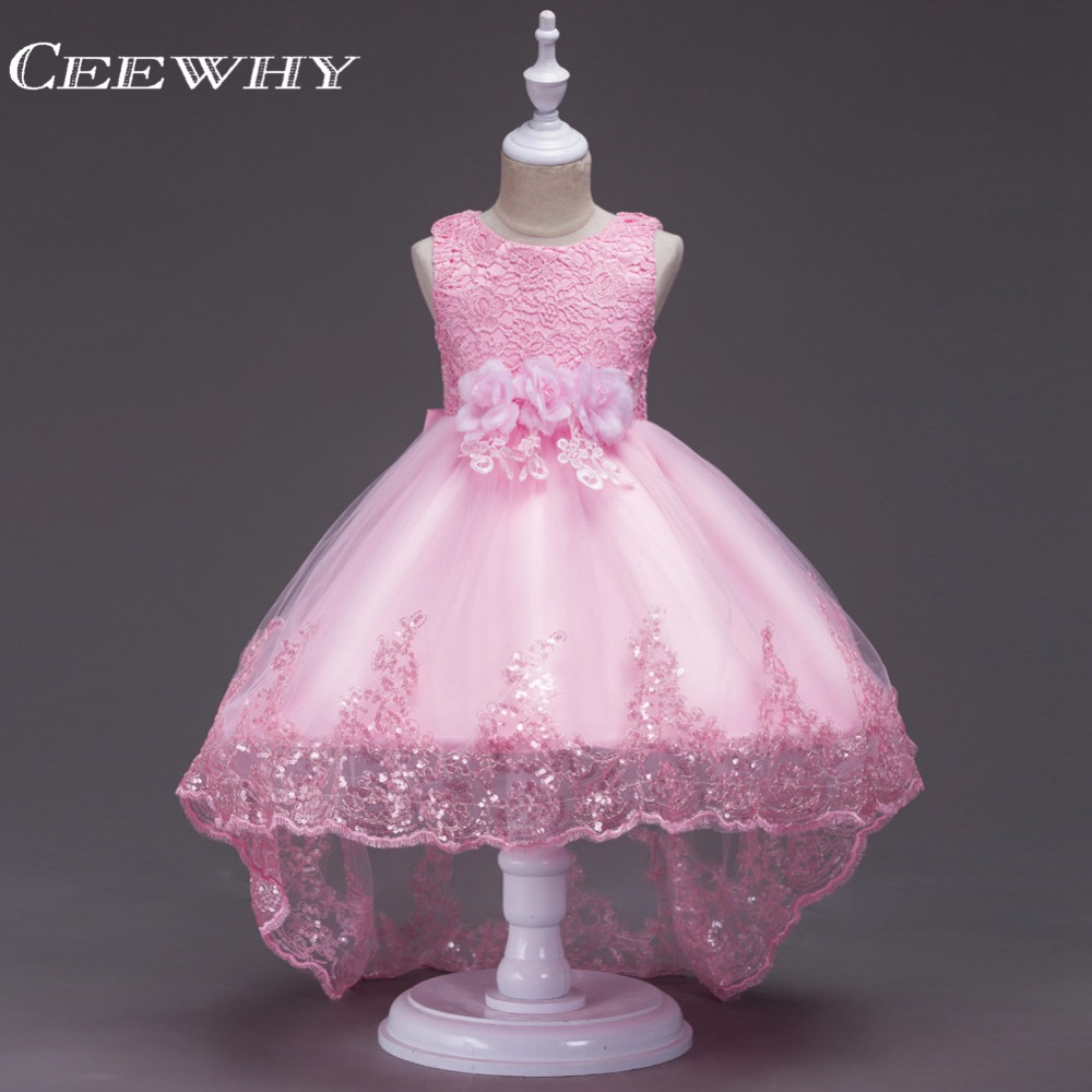 CEEWHY Ball Gown Princess   Girls     Dress   with Big Bow Appliques   Flower     Girl     Dresses   Lace Wedding Party First Communion   Dresses