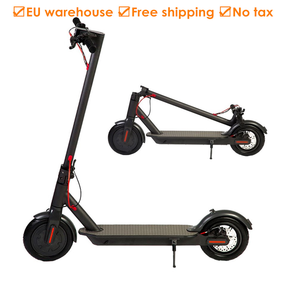 L'europe Entrepôt Adulte Pliant Électrique Scooter 8.5 Pouces Deux Roues E Scooter Électrique Kick Scooter IP54 12.5 kg 25 km longue Durée de Vie