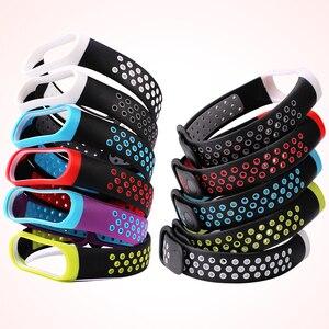 Image 3 - BOORUI mi band 3 strap Double Color Breathable Silicone miband 3 strap Sport pulsera replacement for xiaomi miband 3 strap