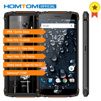 HOMTOM зоджи Z9 IP68 Водонепроницаемый Helio P23 Android 8,1 Octa core Смартфон 5,7 6 ГБ 64 ГБ 5500 мАч Face ID отпечатков пальцев мобильный телефон
