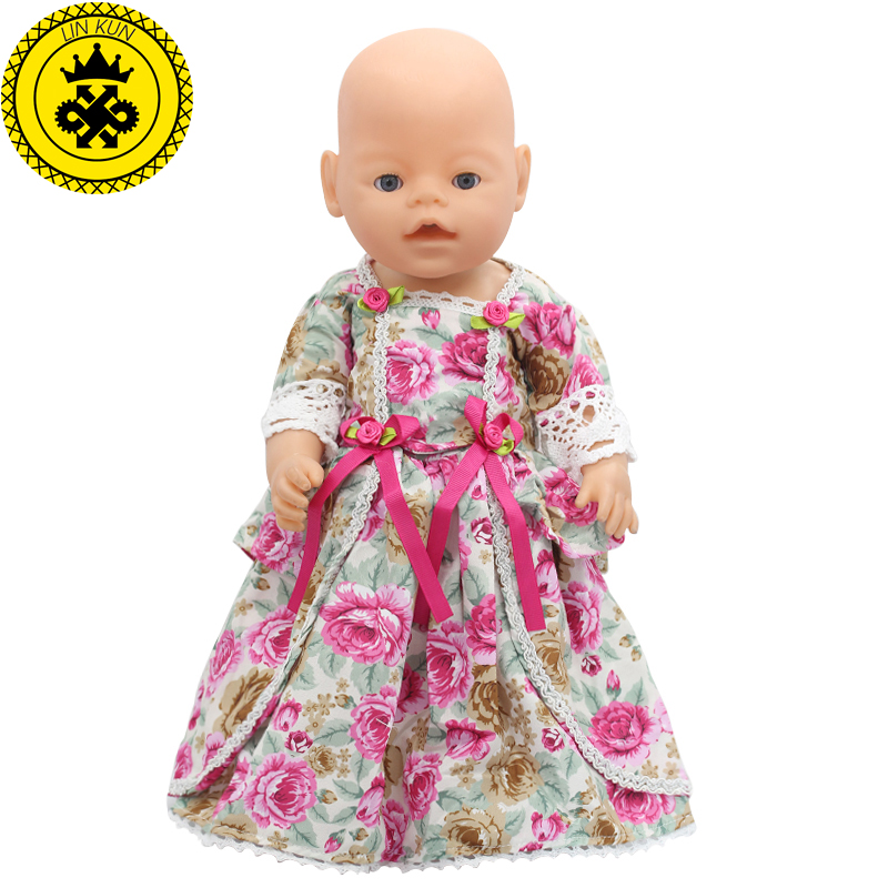 Baby Born Doll Clothes For 43cm Zapf Doll Accessories Japan Fashion Print Dress Outfit Children Birthday Gift 055 baby born doll dress clothes fit 43cm baby born zapf pink dress doll accessories for 43cm love hope children birthday gift 047