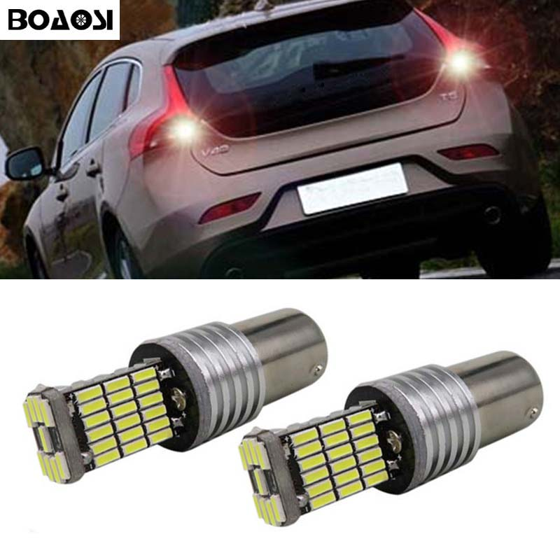 BOAOSI 2x 1156 P21W Canbus No Error LED <font><b>Rear</b></font> Reversing Tail <font><b>Light</b></font> Bulb For <font><b>volvo</b></font> xc90 xc60 v70 <font><b>s80</b></font> s40 v60 c30 v50 image