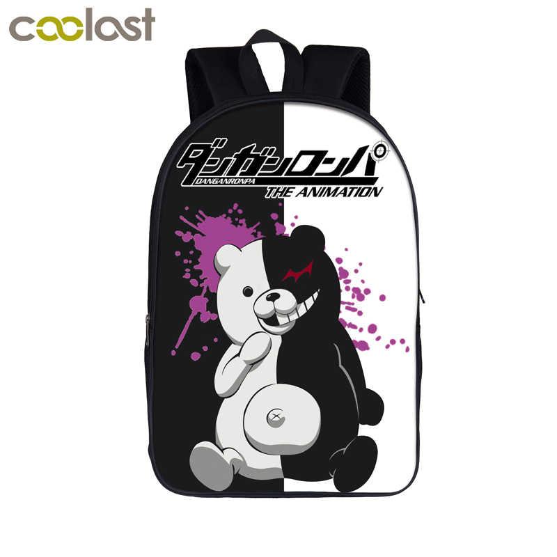 f0404e1d570f Аниме Danganronpa рюкзак для подростков мальчиков девочек Dangan Ronpa  детские школьные сумки Monokuma рюкзак детский студенческий