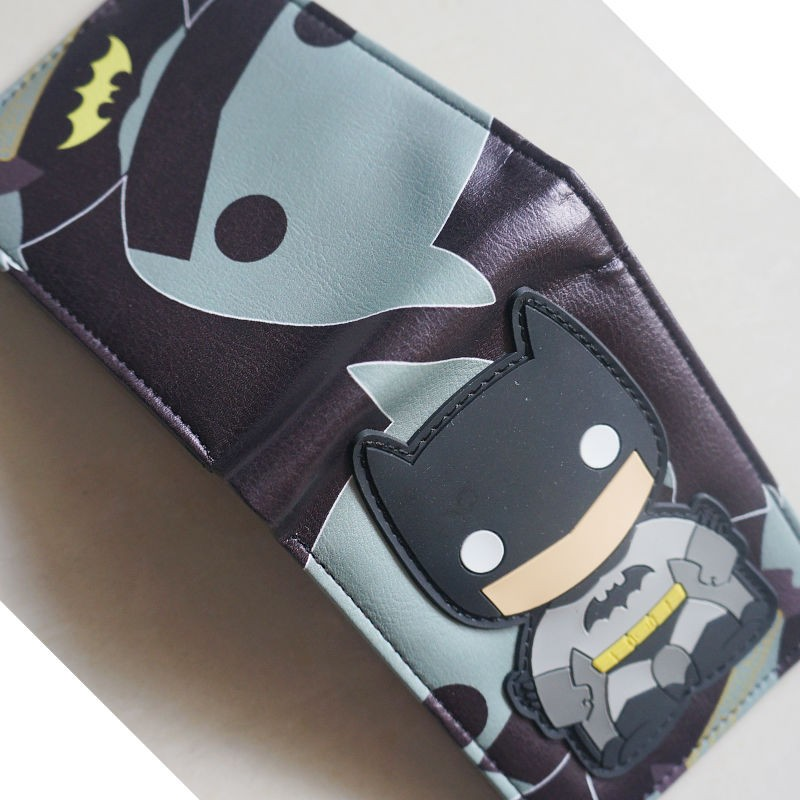 2018 Comics DC  Wallet bat man Card Bags Famous Amine Cartoon Purse  Male Casual Branded Wallets W038