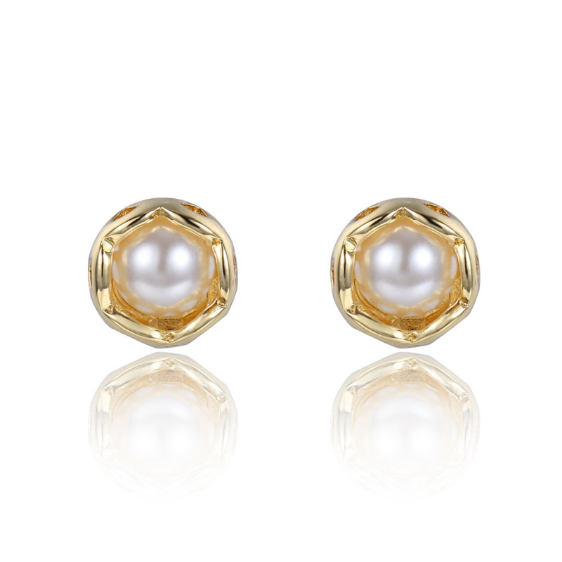 Pearls earring gold stud earrings for women boucle d - Presentoir boucle d oreille ...