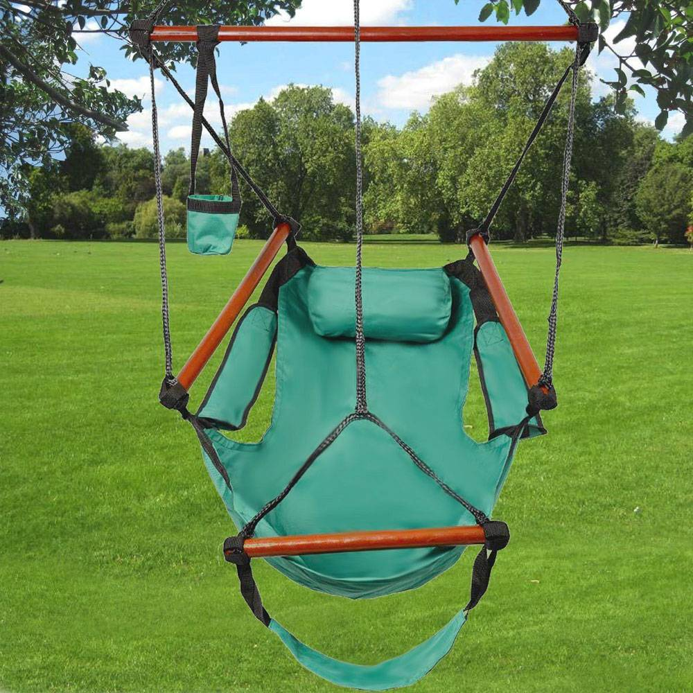 High Strength Assembled Hanging Seat Hammock Patio Swing Well equipped S shaped Hook To Enjoin Life