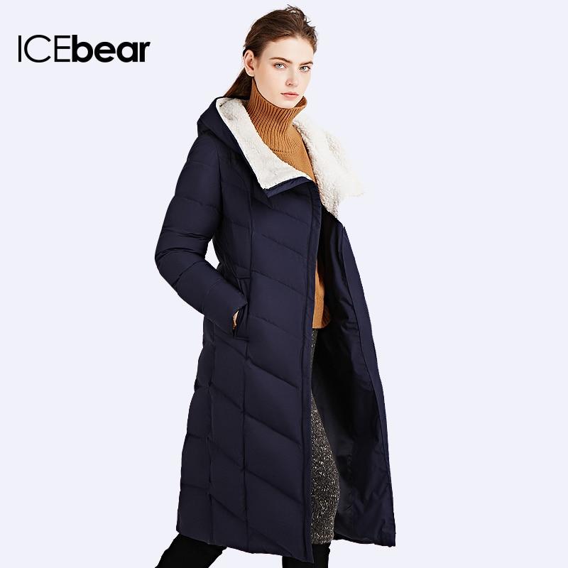 ICEbear 2017 Hiver Automne Veste Femmes Rembourré Manteau D'hiver Mince Long Manteau Trois Couleurs Épais Parkas 16G661D