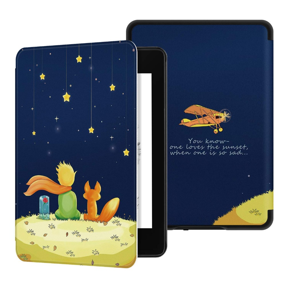 2018 New Case for Amazon Kindle Paperwhite 4 Smart Cover for New Kindle Paperwhite 4 PU Leather Tablet Case for Paperwhite 2018(China)